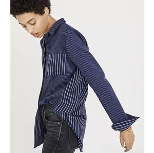 Madewell Classic Ex- BF Shirt in Mixed Stripe